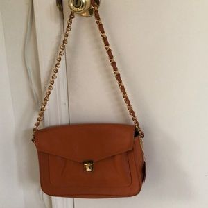 Bloomingdales Small Orange Shoulder Bag